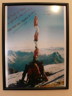 Mont Blanc. Colla vella xiquets Valls